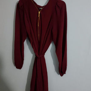 Roz and Ali Dressbarn Maroon Dress